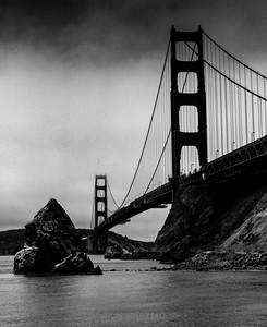 Golden Gate in B&W