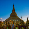 Sunset at Shwedagon Pagoda.