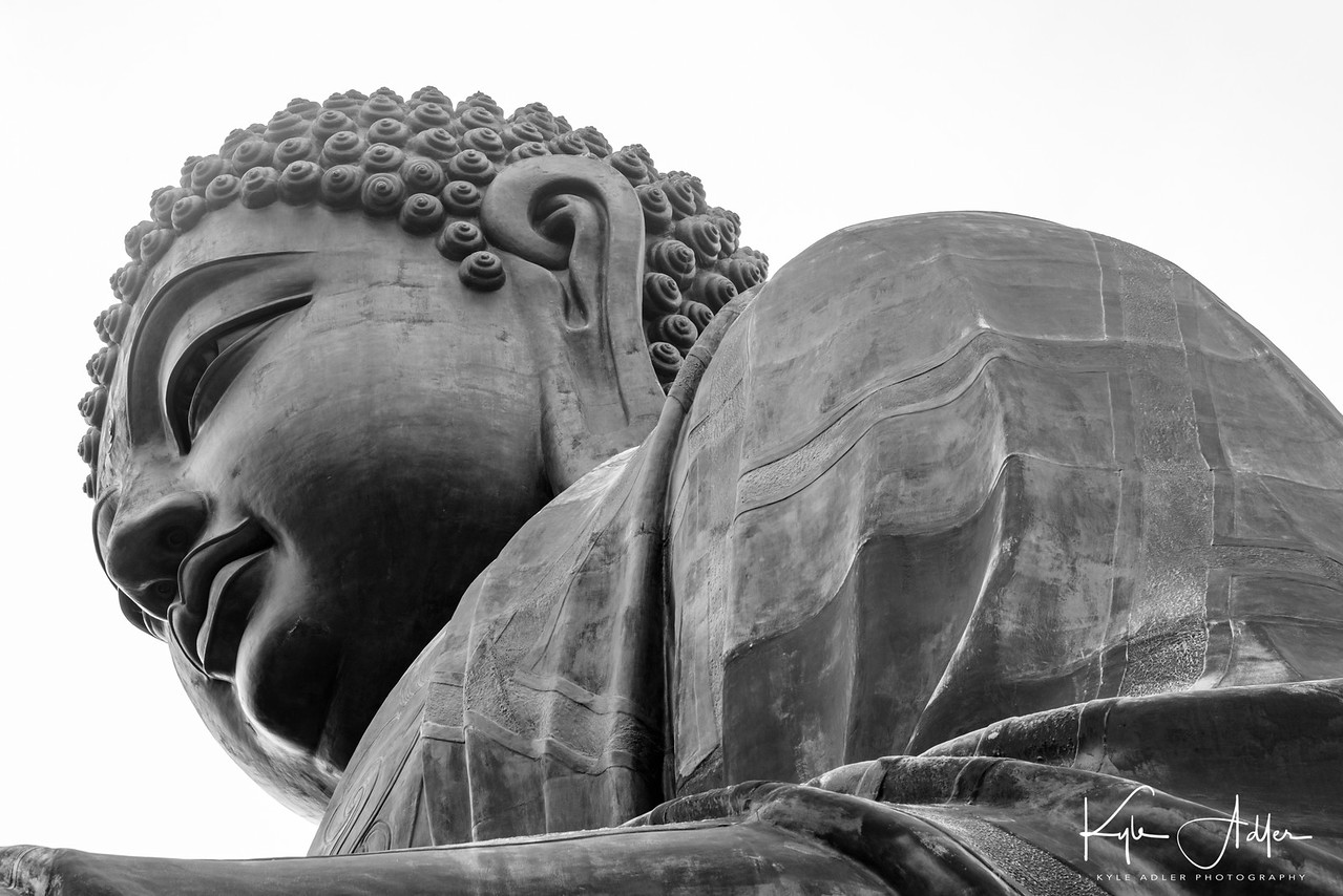 Tian Tan Buddha is the world's largest seated Buddha statue at 73 feet high.