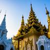 A pagoda in the heart of Yangon (Rangoon).