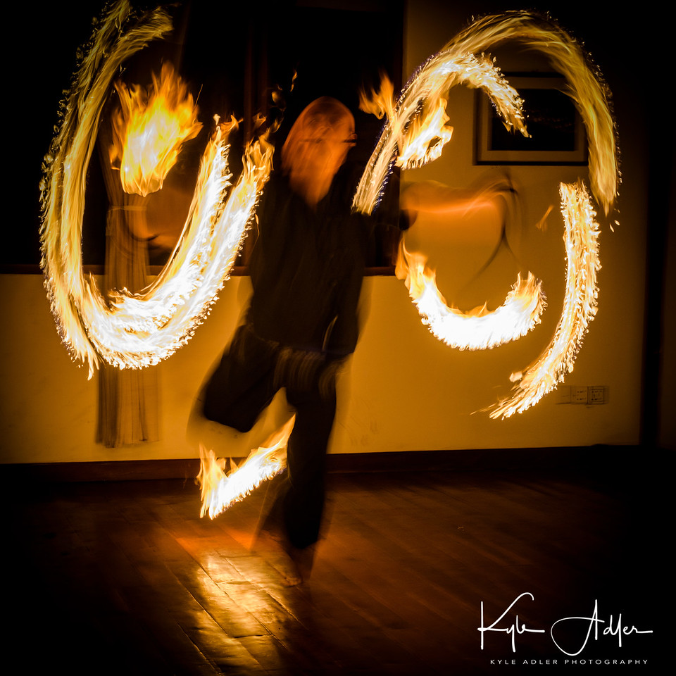 A fire dancer.