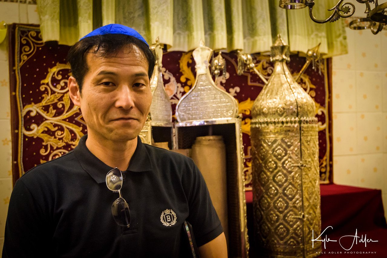 We were shown around the Musmeah Yeshua Synagogue by one of the 17 remaining members of Myanmar's only Jewish community.
