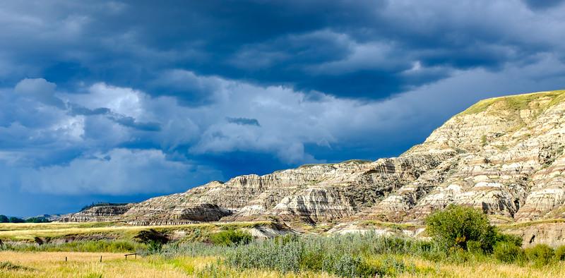 Storm over the Alberta Badlands