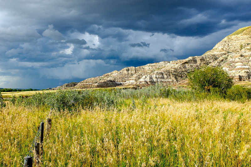 Storm over the Alberta Badlands