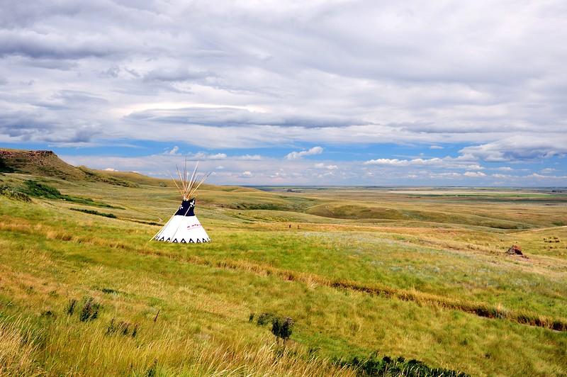 Wide open native american grassland