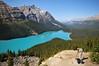 Photographer at Peyto Lake, Banff National Park, Canada