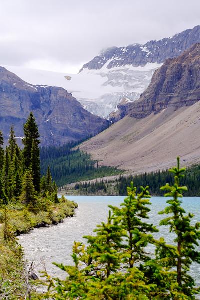 Bow Lake and Crowfoot Glacier, Banff National Park