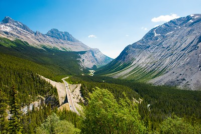 Columbia Icefields Parkway in Jasper/Banff National Park