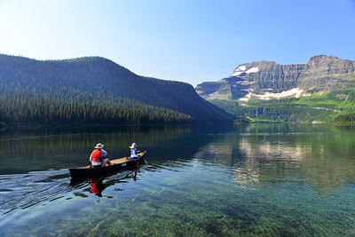 Canoe on Waterton Lake