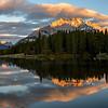 Cascade Mountain from Johnson Lake, Banff National Park, Alberta