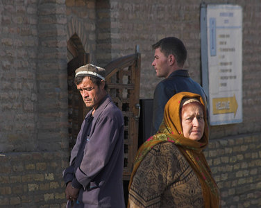 Three faces, Khiva, 2006