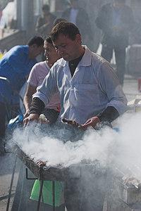 Shashlik Cook, Chorsu Bazaar