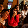 Locals gather in a pub to watch the Chilean soccer team compete in the quarter-finals of the Americas Cup.
