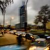 Rush hour in Santiago.