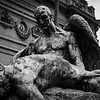 Icarus and Daedalus sculpture by artist Rebeca Matte, located in front of the Museum of Fine Arts in Santiago.