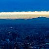 Panoramic view over Santiago from atop San Cristobal Hill.