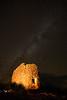 Night view of an ruin on Cedar Mesa
