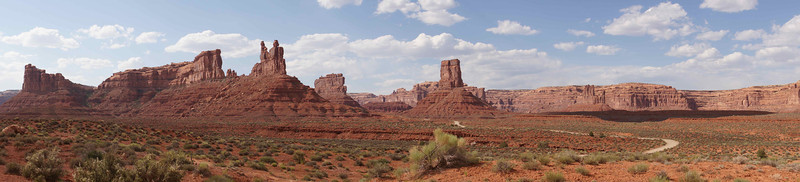 Panoramic view in The Valley of the Gods