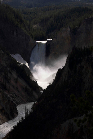 falls on the Yellowstone river