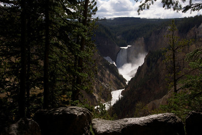 Falls on the Yellowstone River from Artists' Point