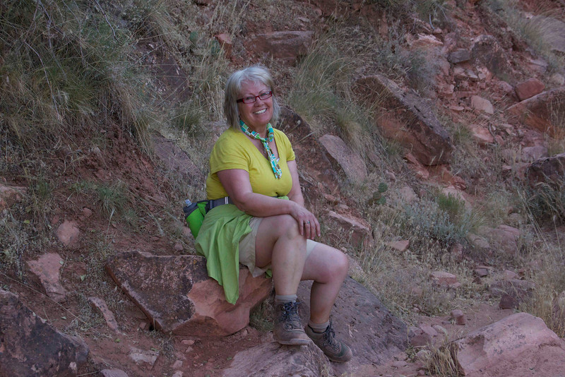 Mary deep in the Grand Canyon