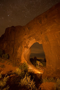 Pine Tree Arch. Arches National Park, Moab UT