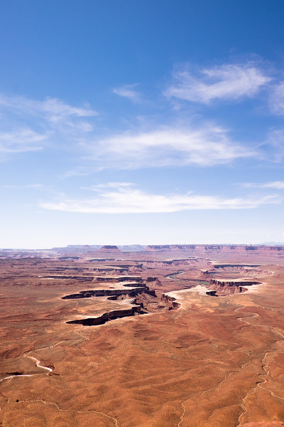 Island in the Sky, looking toward Green River. Canyonlands National Park