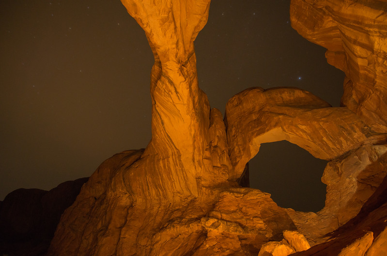 Nightshot at Double Arch, Arches National Park