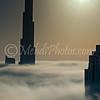 Burj Khalifa in a dense fog