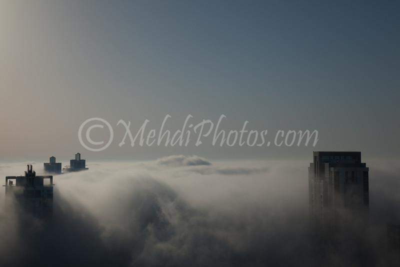 Dubai (Executive Towers) in Fog.