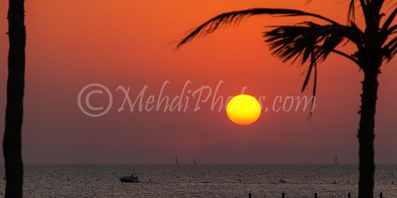 Sunset taken in Jumeira Beach/Park, Dubai.