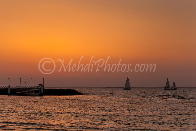 Jumeria Beach and Sunset