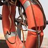 Traditional abra boat floating ring in Dubai, UAE.