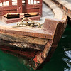 Traditional abra boat in Dubai, UAE.