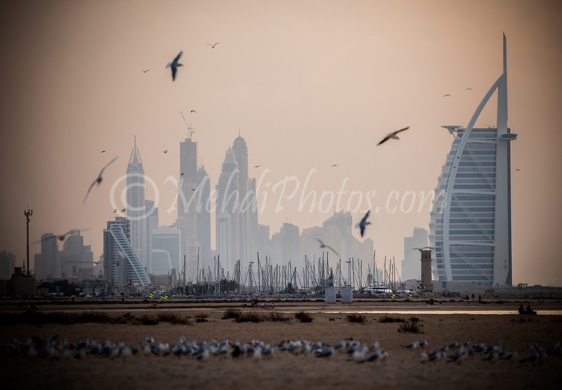 Burj Al Arab as seen from Jumeira Beach.