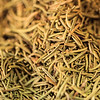 Macro shot of dried rosemary in Dubai's Spice Souq.