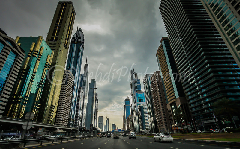 Colour version of Sheikh Zayed Road.