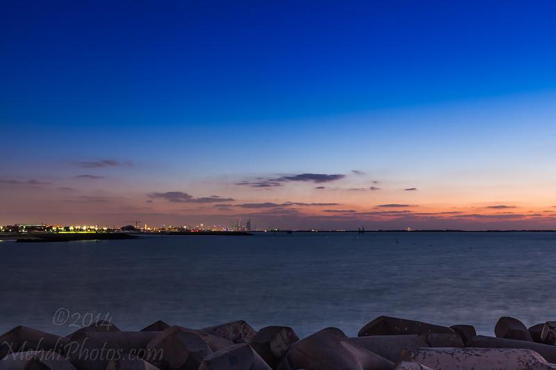 Sunset at Jumeira beach.