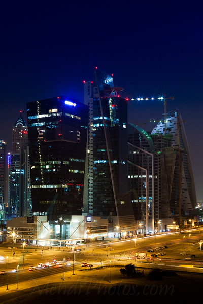 Business Bay at night