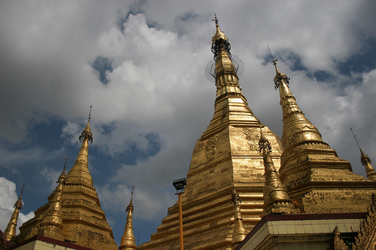 Sule Paya Spires, Central Rangoon
