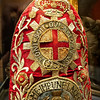 """A Embroidered  ' Mitre' Cap, British Regiment of The Dragoons, 1741 - 1751 AD. In 1727, the regiment was renamed the """"Queen's Own Regiment of Dragoons"""".<br /> During the War of the Austrian Succession, the regiment was sent to the Low Countries in 1742. On June 27 1743, it fought at the battle of Dettingen where it received its first Battle Honour. On May 11 1745, the regiment took part in the battle of Fontenoy. It also fought at Rocoux (October 11, 1746) and Lauffeld (July 2, 1747) before returning to England in 1749.<br /> On July 1 1751, when a Royal warrant reorganised the British cavalry, the regiment was designated as the """"7th (The Queen's Own) Regiment of Dragoons"""".<br /> The regiment counted 2 squadrons and was mounted on horses of different colours."""