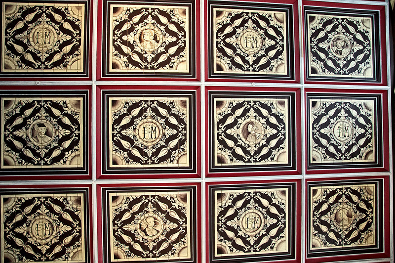 A Photo of one of the ceilings within the Stirling Castle. Turned sideways to view better.