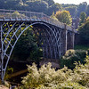 Iron Bridge, Shropshire, England over River Sevren. 1st arch bridge in the world to be constructed from cast iron. Completed 1781