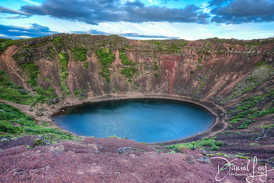 Kerið - A 3000 year old volcanic crater lake