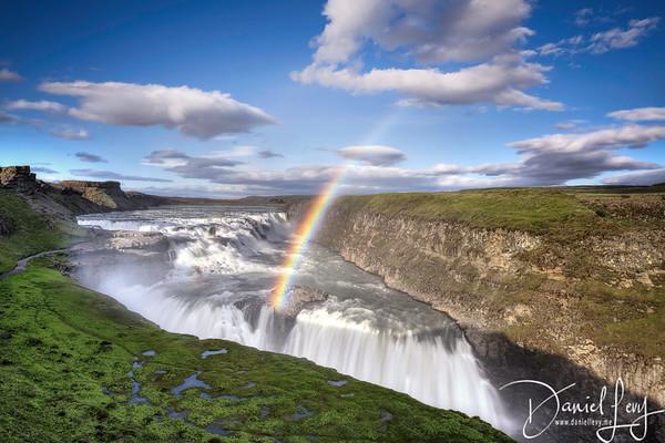 Rainbows & Waterfalls at Gullfoss | Iceland