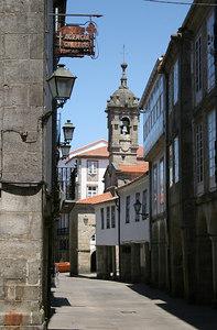 Street in the Cidade Vela of Santiago de Compostela, Galicia