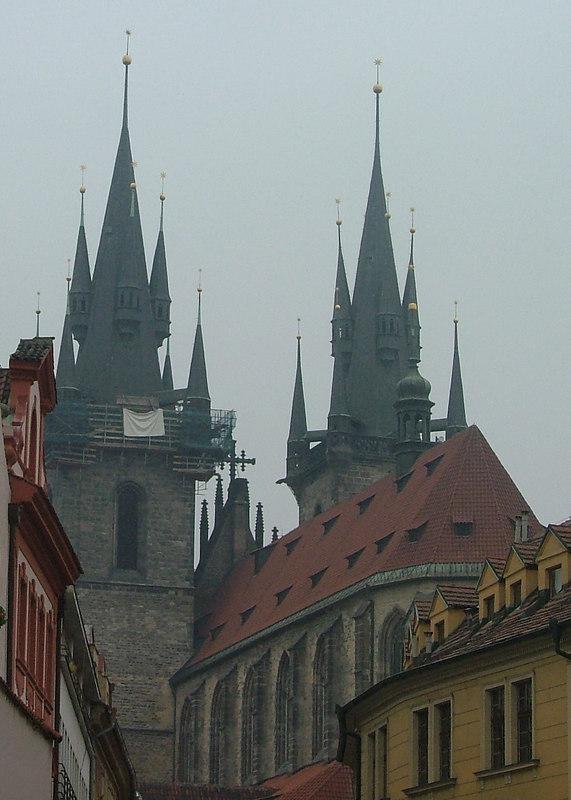 Tyn Cathedral with Fog, Prague