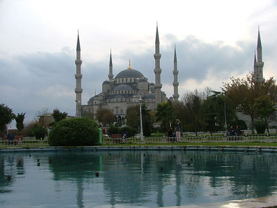 The Blue Mosque and reflecting pool