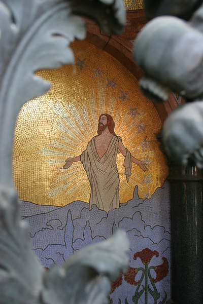 Mosaic of Christ, Montmartre Cemetery, 18th Arrondisement