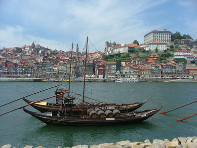 Port Wine Boats on Douro, Terraces of Porto